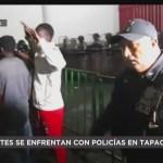 FOTO: Migrantes Africanos Enfurecen Tras Presunto Robo Policías Chiapas