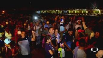 Foto: Migrantes Bloquean Puente Internacional Matamoros 10 Octubre 2019