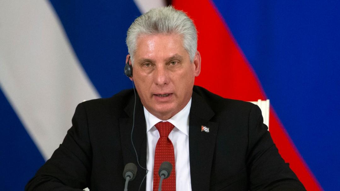 Foto: Miguel Díaz-Canel, presidente de Cuba, llega a México