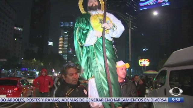 Miles de personas celebran a San Judas Tadeo en la CDMX
