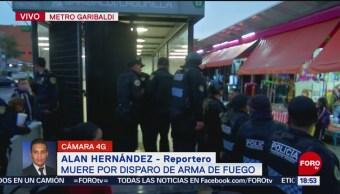 FOTO: Muere hombre por disparo de arma de fuego en Metro Garibaldi, 25 octubre 2019