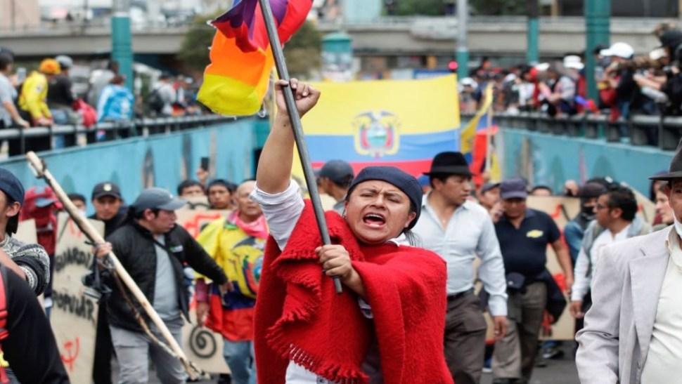 Foto Muere indígena durante protesta en Ecuador
