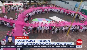 Foto: Mujeres Moño Rosa Cáncer De Mamá Venustiano Carranza 26 Octubre 2019