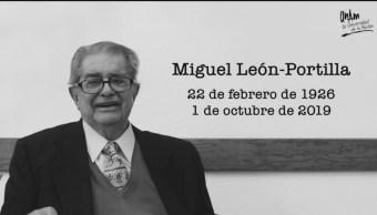 Foto: Murió Miguel León-Portilla 1 Octubre 2019