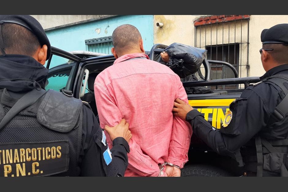 Foto: La captura se efectuó cuando los agentes de la policía antinarcótica guatemalteca realizaban identificación de personas, 27 de octubre de 2019, (Policía Nacional Civil)