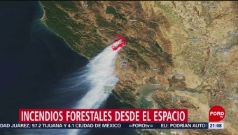 Foto: Nasa Incendios Forestales Baja California Imágenes Satelitales 28 Octubre 2019