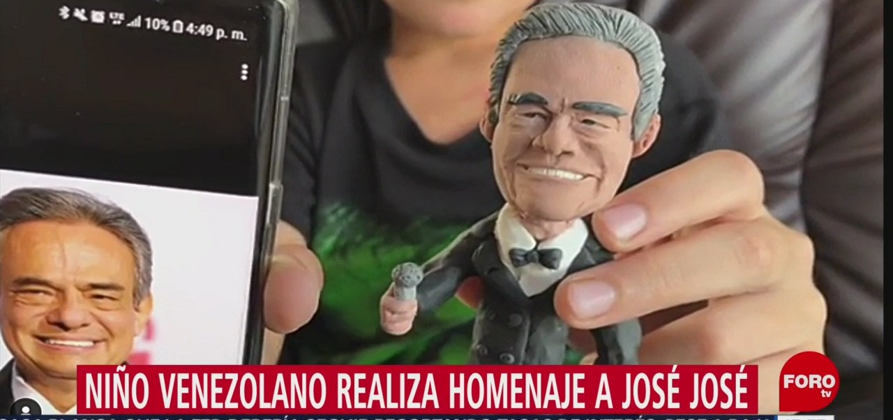 FOTO: Niño Venezolano Crea Muñeco Plastilina José José