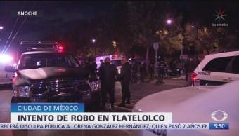 Nuevo intento de robo en Tlatelolco deja 2 delincuentes heridos