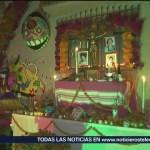 FOTO: Oaxaca adorna fachadas alusivas Día Muertos