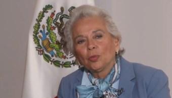 Foto: Olga Sánchez Cordero, a favor de aborto y marihuana, 14 de octubre de 2019, Ciudad de México