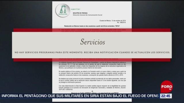 FOTO: Ordenan a Morena emitir nuevo criterio para reelección, 13 octubre 2019