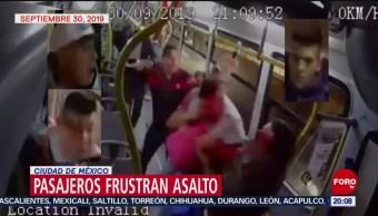 Foto: Pasajeros Frustran Asalto Camión Vallejo Cdmx 7 Octubre 2019
