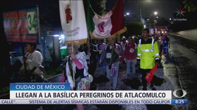 Peregrinos de Atlacomulco llegan a la Basílica de Guadalupe