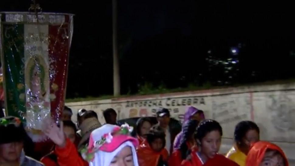 Foto: Peregrinos de Atlacomulco, Edomex, llegan a la Basílica de Guadalupe,17 de octubre de 2019, México