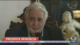 Plácido Domingo renuncia a ópera de Los Ángeles