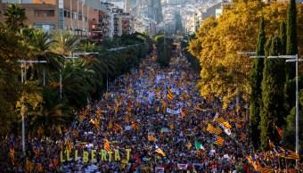 Miles de independentistas catalanes volvieron a las calles en Barcelona, 26 octubre 2019