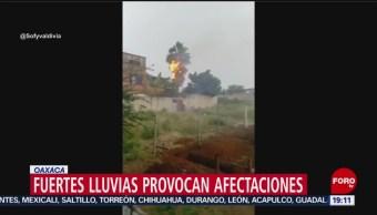 Foto: Video Rayo Incendia Palmera Oaxaca 10 Octubre 2019