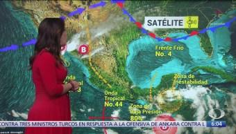 Registran zona de Baja Presión con probabilidad de desarrollarse a ciclón tropical