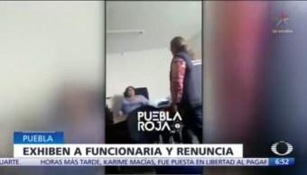 Renuncia funcionaria de Puebla tras insultar a sus colaboradores