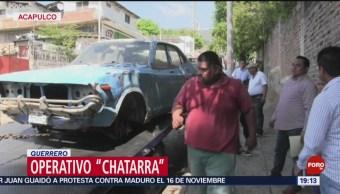 FOTO: Retiran vehículos abandonados de calles de Acapulco, 19 octubre 2019