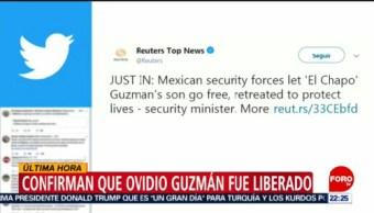 Foto: Reuters Informa Hijo Chapo Ovido Guzmán Fue Liberado 17 Octubre 2019
