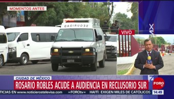FOTO: Rosario Robles llega Reclusorio Sur