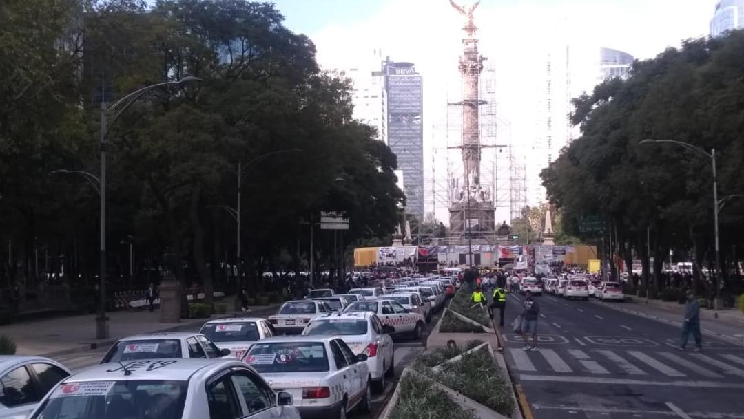 FOTO Rutas de las marchas de taxistas en la Ciudad de México este 7 de octubre (S. Servín)
