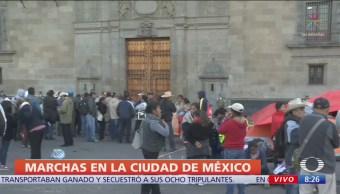 Se esperan 4 manifestaciones en la CDMX