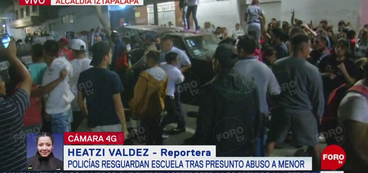 Foto: Enfrentamiento Primaria Iztapalapa CDMX Abuso Sexual Hoy 15 Octubre 2019
