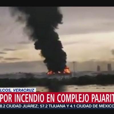 Se registra incendio en complejo 'Pajaritos' de Coatzacoalcos, Veracruz