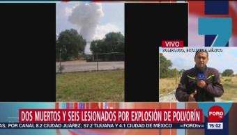 FOTO: Se retiran cuerpos emergencia tras explosión Zumpango