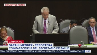 Secretario de Salud comparece ante Cámara de Diputados