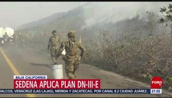 Foto: Sedena Aplica Plan D-Iii-E Incendios Baja California 25 Octubre 2019