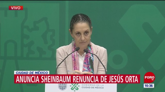 Sheinbaum: Renuncia de Orta fue por motivo personales