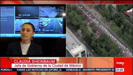 Foto: Taxistas Bloqueos Combatimos Corrupción Claudia Sheinbaum 7 Octubre 2019