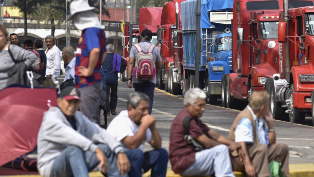 Foto: Se sugiere tomar otras vías para evitar la zona bloqueada, 30 de octubre de 2019 (Mario Jasso /Cuartoscuro.com)
