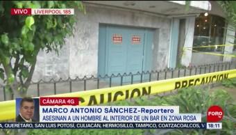 FOTO: Siguen investigaciones tras asesinato de hombre en bar de la Zona Rosa, 13 octubre 2019