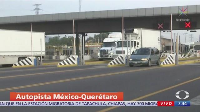 Sin presencia de transportistas en la México-Querétaro
