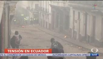 Suman 5 muertos durante los 8 días de protestas en Ecuador