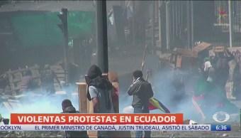 Suman siete muertos por protestas en Ecuador