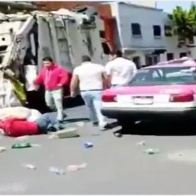 Video: Taxistas golpean a recolector de basura en la Ciudad de México