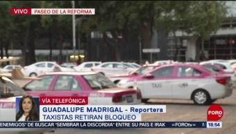 FOTO: Taxistas Retiran Bloqueo Ángel Independencia,