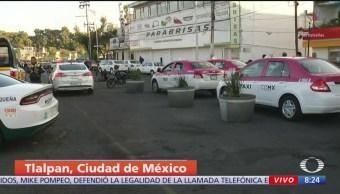 Taxistas se preparan para manifestarse sobre Calzada de Tlalpan, CDMX
