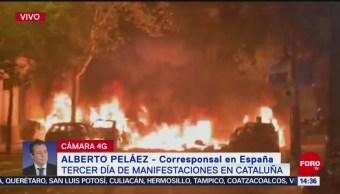 FOTO: Tercer día manifestaciones Cataluña España,