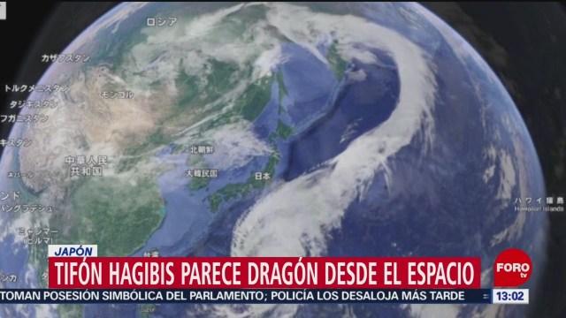 FOTO: Tifón Hagibis parece un dragón visto desde el espacio, 12 octubre 2019