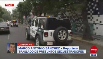 Trasladan a dos presuntos secuestradores a la Fiscalía Antisecuestro