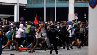 Foto: Trece heridos leves en protestas contra la sentencia a líderes catalanes, 14 de octubre de 2019, España