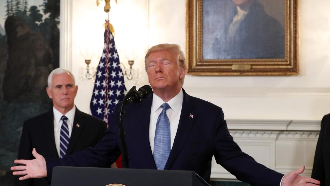 """FOTO Trump anuncia acuerdo con Turquía por """"alto el fuego permanente"""" en Siria (Getty Images)"""