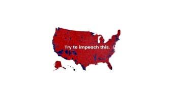 IMAGEN Trump tuitea mapa de apoyo republicano y advierte: 'Tren de enjuiciar esto' (Twitter)