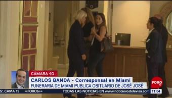 Ubican cuerpo de José José en funeraria de Miami